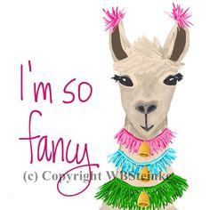 So Fancy Llama Stickers