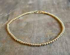 lleno de oro pulsera fina grano minimalista pulsera delicada