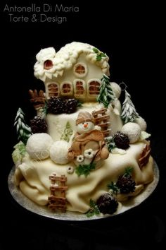 Snowmen are one of my favorite Christmas decorations and this cake fits that very well. Love it!!
