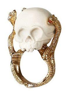 Delfina Delettrez Skull Gold Ring