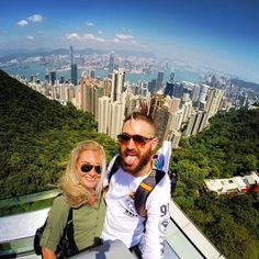 Amazing view over the city of Hong Kong, seen from Victoria Peak. Amazing city! #GoPro #city #hongkong #victoriapeak #travel #wanderlust