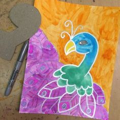 Painting a Peacock | Art Projects for Kids | Bloglovin'