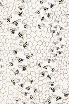 Bee Colony Wallpaper - anthropologie.com http://uk.pinterest.com/betheleanor/pattern/