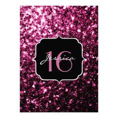 Beautiful Pink glitter sparkles Sweet 16