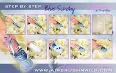 Klebeschablonen - LENZ art products - Kreativ von A-Z Airbrush Designs, Airbrush Nailart, Blue Sunday, Sunday Inspiration, Photos, Nail Art, Blog, Products, Ongles