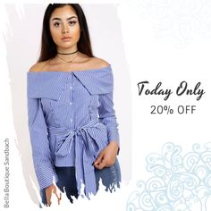Today Only! 20% OFF this item.  Follow us on Pinterest to be the first to see our exciting Daily Deals. Today's Product: Off Shoulder Pin Stripe Shirt with Self Tie Bow Buy now: https://small.bz/AAad3xm #musthave #loveit #instacool #shop #shopping #onlineshopping #instashop #instagood #instafollow #photooftheday #picoftheday #love #OTstores #smallbiz #sale #dailydeal #dealoftheday #todayonly #instadaily