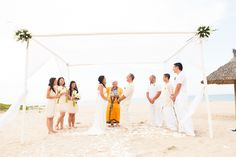 Buddhist blessing on the beach, combining eastern and western tradition. #HoiAnEventsWeddings #BuddhistBlessing #VietnamBeachWeddings