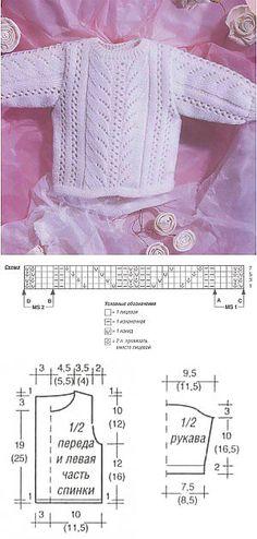 Белый пуловер с запахом на спинке   Вязание спицами и крючком – Азбука вязания