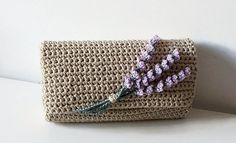 Looking for your next project? You're going to love Lavender Crochet Pochette Bag by designer isWoolish.
