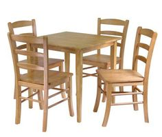 Winsome Wood Groveland 5-pc Dining Table with 4 Chairs 34530