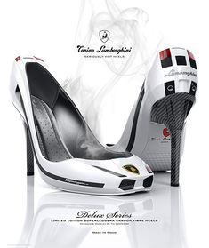 It'd be awesome if these Lamborghini high heels were actually real!!! Ha!