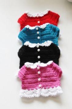[BY 라벤더]  디즈니 베이비돌 코바늘 가디건입니다. 몇일전에 올려드렸던건데요 짧은 시간에 뜨기도... Crochet Baby, Crochet Top, Barbie, Doll Clothes, Diy And Crafts, Dolls, Pattern, Women, Diy Dollhouse