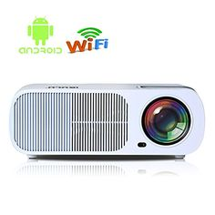 iRULU 20 Pro Android 44 Multimedia Video Projector Max 2600 Lumens Portable Home Theater LED HD 1080P Cinema Max 200 WiFi Wireless Video Projector USB HDMI VGA TV AV  White -- Find out more about the great product at the image link.