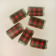 Instant Download Red & Black Buffalo Plaid Printable Mini Hershey Bar Wrappers