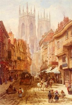 OXFORD, BY LOUISE RAYNER Louise Ingram Rayner (June 21, 1832, Matlock Bath - October 8, 1924, St Leonards-on-Sea) was a British watercolor artist.