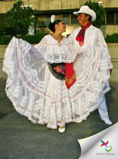 Mexican Folk Dance from Veracruz, FDC Xochitl Ollinqui.