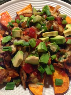 Vegan sweet potato nachos. Yum!