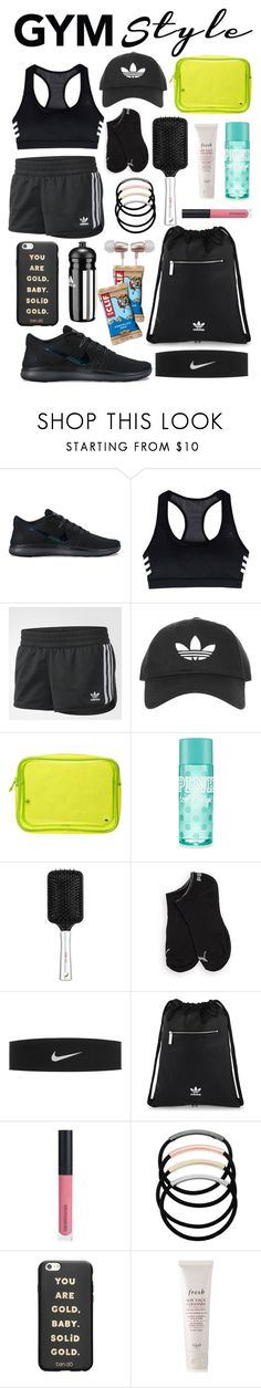 """Gym Style"" by guccixxxx ❤ liked on Polyvore featuring NIKE, adidas, Topshop, Stephanie Johnson, Victoria's Secret, Puma, adidas Originals, Bare Escentuals, L. Erickson and ban.do"