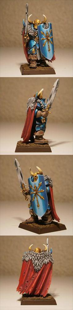Tzeench Chaos Warrior miniature for #Warhammer Fantasy Battles