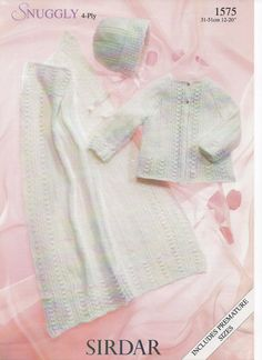Baby blanket and coat knitting pattern pdf file