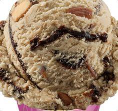 Jamoca® Almond Fudge Ice Cream Take our Jamoca® ice cream, add roasted almonds and a chocolate flavored ribbon. Fudge Ice Cream Recipes, Ice Cream Desserts, Ice Cream Flavors, Baskin Robbins, Roasted Almonds, Chocolate Flavors, Sweet Treats, Remembering Mom, Yummy Food