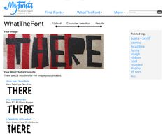 What The Font - amazing tool for font identification. Blog by Smart Creative www.smartcreative.biz