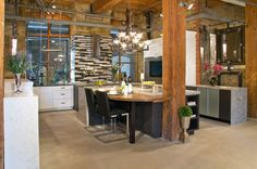 Arlington Latte & Manhattan Slate Grey Wenge cabinets designed for the Cambria Toronto Showroom