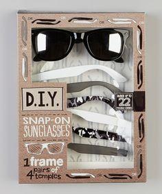 Look at this #zulilyfind! Gray Camo Snap-On Sunglasses Set by Eye Design #zulilyfinds