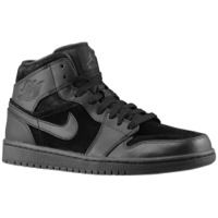 A visual statement: the new Air Jordan 1 Mid Black/Black. Find out all the details about this all black version of the classic. Aj1 Mid, Me Too Shoes, Men's Shoes, Jordan Shoes For Men, High Top Sneakers, Sneakers Nike, Newest Jordans, Shoe Art, Foot Locker