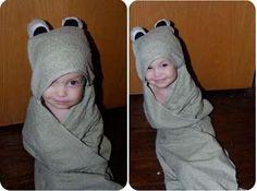 DIY Hooded Towel DIY Frog Hooded Baby Bath Towel Pattern DIY Hooded Towel