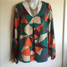 NWOT multi color top. Perfect for spring/summer Firm unless bundled. True to size. 100% polyester. Candy Rose Tops Blouses
