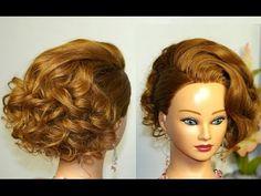 """Прическа на средние волосы имитация  """"Карэ"""". - YouTube"""