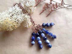 Navy Serenity // Sodalite & Copper Necklace by VampyGarden on Etsy
