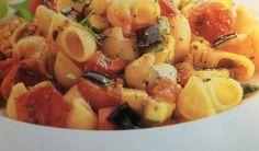 Κοχύλια με ψητά λαχανικά Μια διαφορετική συνταγή με pasta.