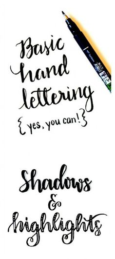 Basic Hand Lettering: Shadows and Highlights - nice techniques... - http://www.oroscopointernazionaleblog.com/basic-hand-lettering-shadows-and-highlights-nice-techniques/