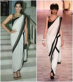 great instructional page on draping a dhoti saree in several different ways.