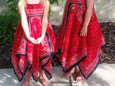 Get the tips and sewing instructions for this Bandanna Dress . It is a fun pattern adaptation for sizes 3-7.