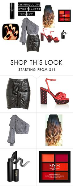 """""""Channelling Cyndi Lauper - She Bop!"""" by retrosam76 on Polyvore featuring Étoile Isabel Marant, Tabitha Simmons, Zimmermann, INIKA, NYX, Bobbi Brown Cosmetics, 80s and cyndilauper"""