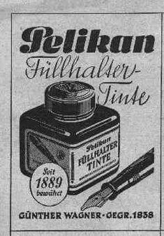Pelikan Advertising Vintage Prints, Vintage Posters, Dog Pen, Work Opportunities, Fountain Pen Ink, Print Advertising, Pen And Paper, In Writing, Writing Instruments