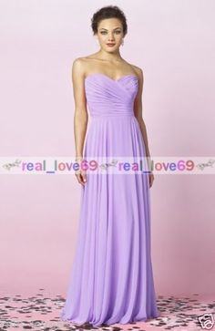New Long Chiffon Formal Evening Party Ball Gown Prom Bridesmaid Dress Size  6 18 42d5a82e03a6
