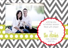 Clarks Chevron Christmas Photo Card by andreagerigdesigns on Etsy