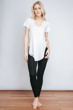 Free Label Ethical Clothing - White Jaimee Tee