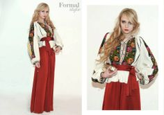 Rich embroidery...colours...boho chic look...Romanian blouse...perfect outfit.