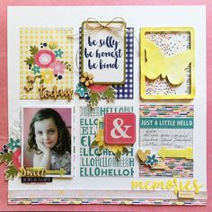#papercrafting #scrapbooking #layout - Jillibean Healthy Hello Soup Scrapbook Layout by Kristine Davidson.