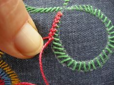 Queenie's Needlework: TAST #136 Knotted Buttonhole Band