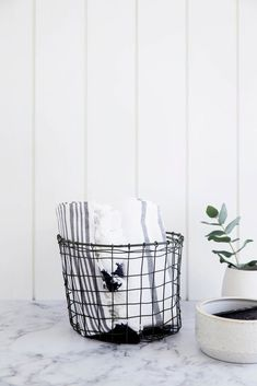 Imprint House handmade wire basket. Buy now: https://www.imprinthouse.net/products/wire-basket
