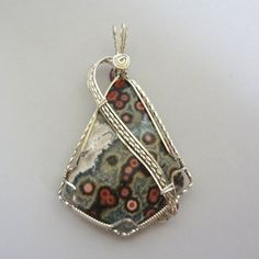 Ocean Jasper Pendant by gemrocks on Etsy, $65.00