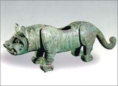 Tiger bottles (Zhou) Freer Gallery of American Art Museum in Washington