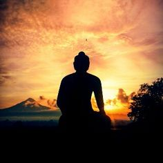 From Borobudur temple..# sunset
