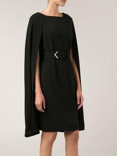 Badgley Mischka Cape Style Belted Dress - Tootsies - Farfetch.com